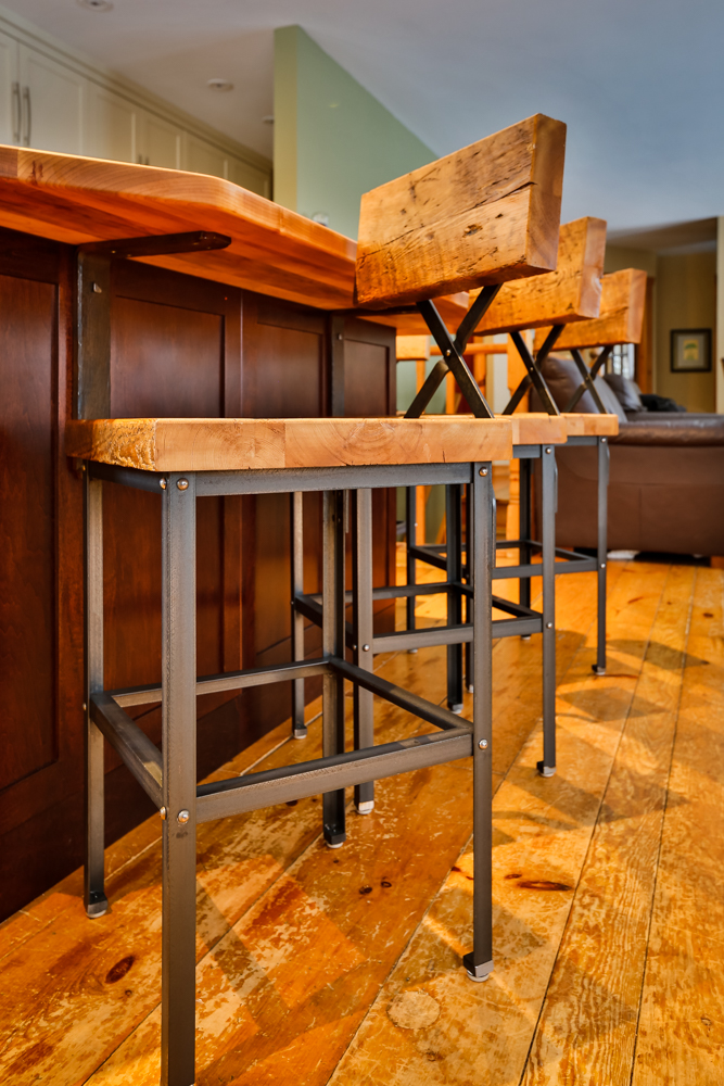 Custom Furniture In Muskoka Barn Board Bar Stools Metal Mind Forge