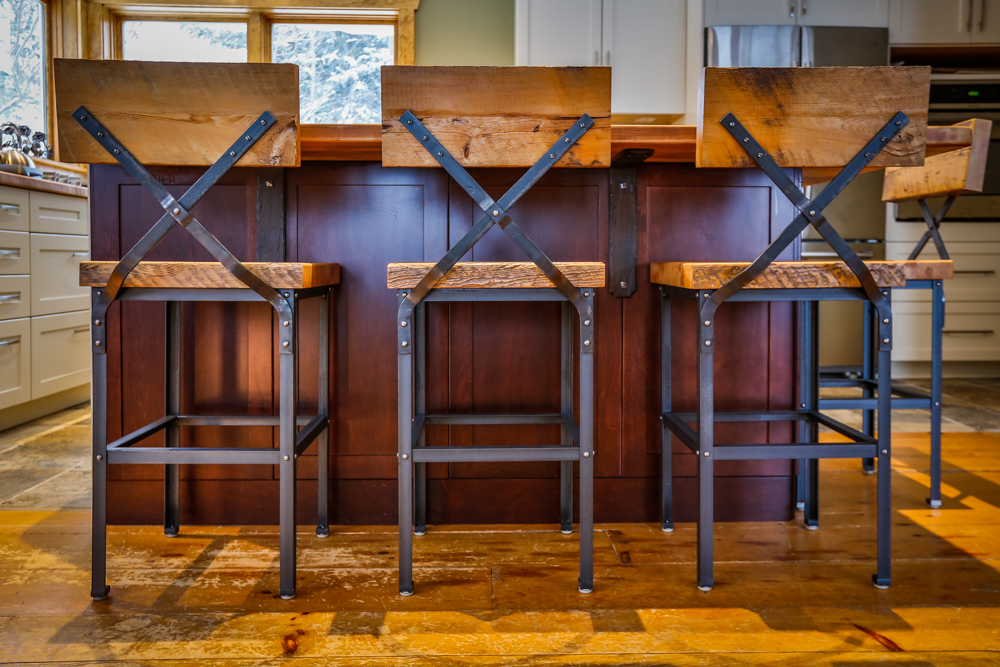 Custom furniture in muskoka barn board bar stools metal mind forge Home hardware furniture collingwood