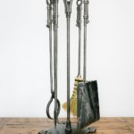 Custom metal interior and exterior fire tools created by artist blacksmith Kyle Thornley of Metal Mind Forge in British Columbia, Canada.