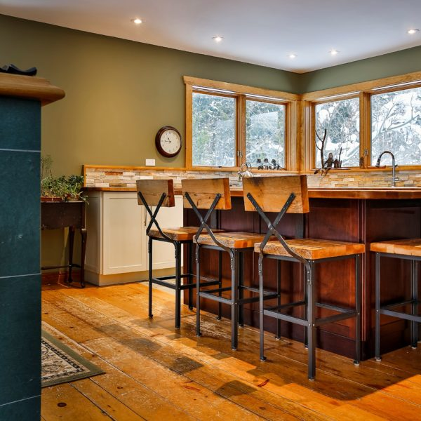 Custom Furniture in Muskoka | Barn Board Bar Stools