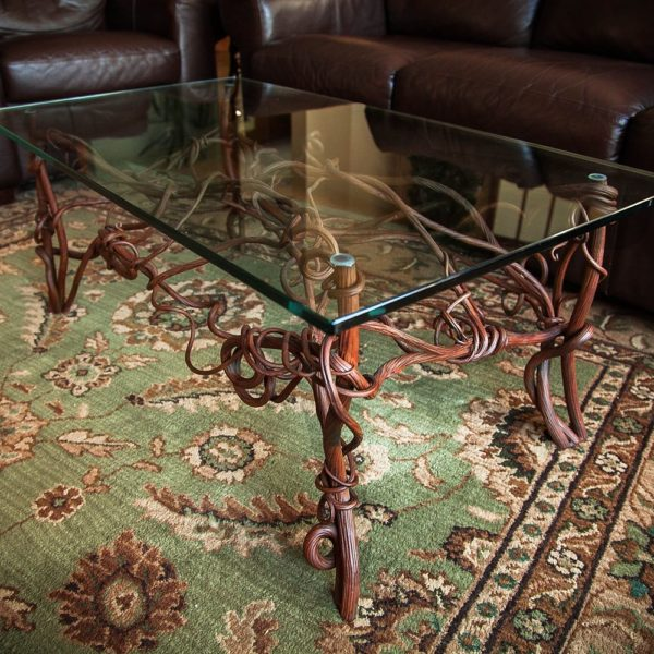 Muskoka Custom Ironwork | Forged Iron Organic Wine Table