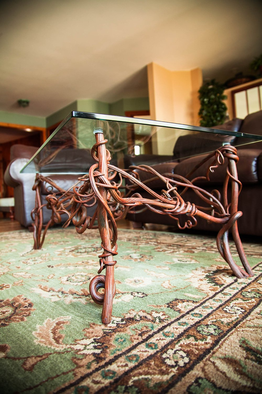 Muskoka custom ironwork forged iron organic wine table metal mind forge Home hardware furniture collingwood