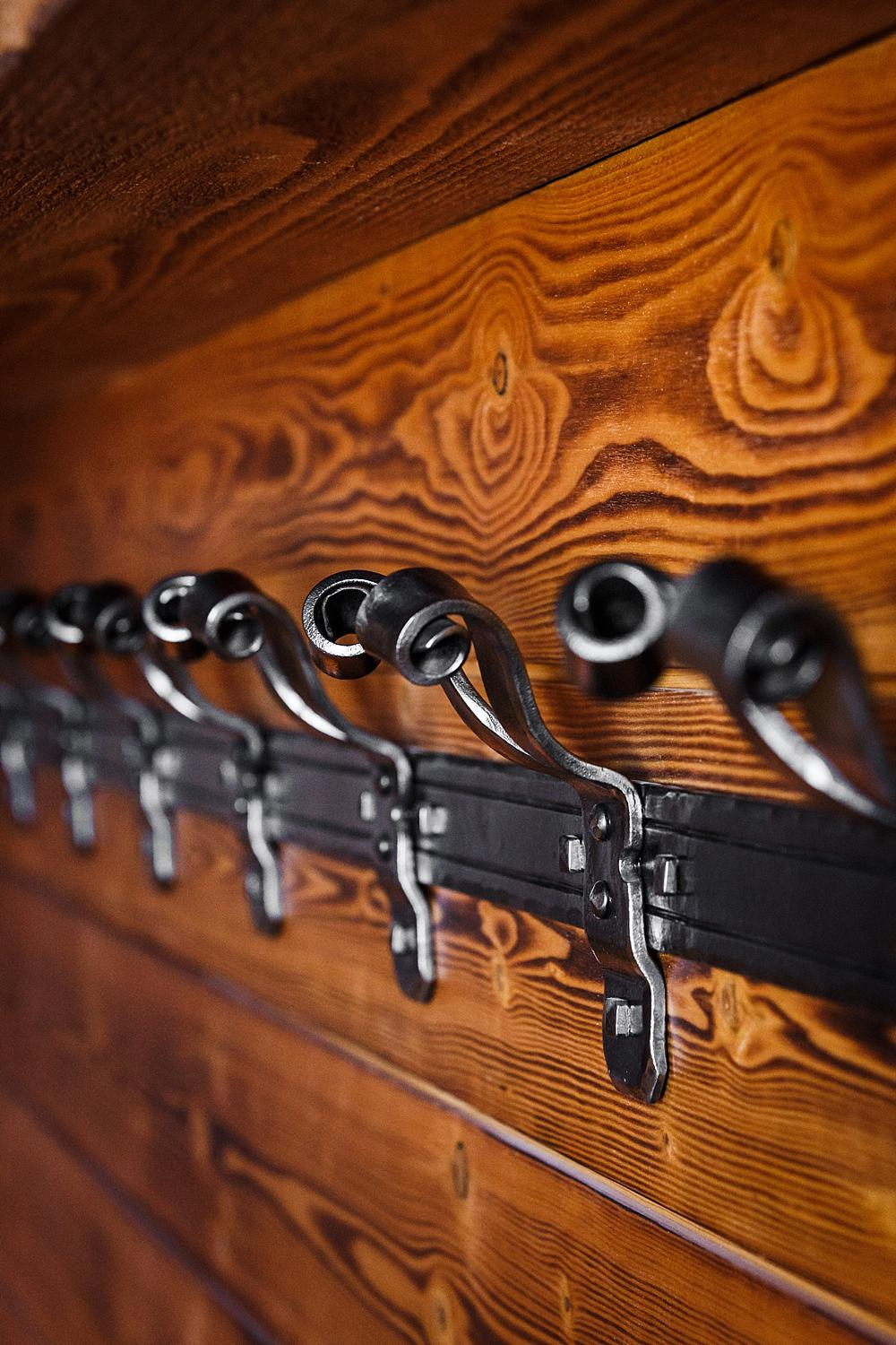 Hand Forged Coat Hooks - Metal